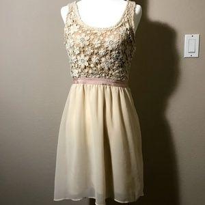 American Eagle White Crochet Dress
